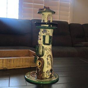 Tea light lighthouse Heather Goldmine 2000 BlueSky